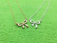 1 petite arc-nœud charme pendentif collier nouveau coréa super sucent arc mignon fille simple clavicule belle femme chien mère mère femme famille cadeaux bijoux