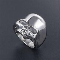 Из нержавеющей стали черепа Кольца готических костей черепа Байкер палец кольцо ювелирных изделия Vintage мужского для Man высокого качества Аксессуары Украшения 885