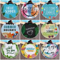 Casual Towel Fringed Lunch Mats Round Design Prints Hawaii Styles Charm Tassel Beach Womens Shawl Fun Summer 150cm 26ql E19