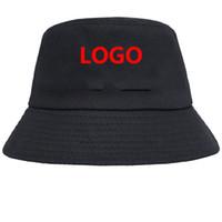 العقد مع البائع الأول لينك فقط للدلو قبعة النساء الرجال بالطلب طباعة أو التطريز القطن متعددة الألوان