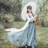 Fairy Cosplay Hanfu Alte chinesische Kostüm-Dynastie Tang-Anzug Folk-Kleid für Frauen Princess Festival Outfits Tanz-Kostüm