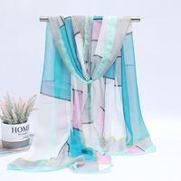 nova primavera e outono inverno mulheres georgette de seda lenço macios lenços de marca meninas foulard pareo e xaile Cachecol Atacado DHL grátis