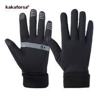 Kakaforsa 2019 сенсорный экран спортивные беговые перчатки мужчины женщины открытый теплый ветрозащитный многофункциональный тренажерный зал фитнес перчатки для бега