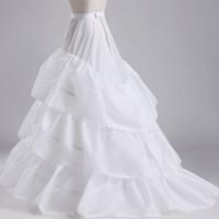 Petticoats für Brautkleider Weiß Mermaid Kapelle Gericht Zug Bridal Zubehör Petticoats enaguas novia Krinoline