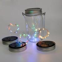 تعمل بالطاقة الشمسية LED ميسون الجرار الخفيفة 10 LED سلسلة الجنية أضواء برغي ستار على الفضة وكي لميسون زجاج الجرار أضواء عيد الميلاد 5465