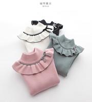 Cotton Mädchen-Strickjacke Baby-Kleidung Winter-Mäntel, Strick-Bogen-Muster Jacke