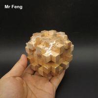 لعبة خشبية الصليب قفص فتح لغز الذكاء المخ دعابة الكلاسيكية المنطق العقل لعبة كونغ مينغ قفل اللعب (نموذج رقم SL022)