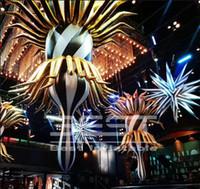 시원한 시인가 매달려 매달려 파티 이벤트 밝게 빛나는 스타 무대 장식을위한 팽창 식 스타 풍선