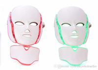 Maschera facciale del collo di 7 colori LED con EMS Microelectronics LED Photon maschera antirughe acne rimozione della pelle ringiovanimento viso bellezza spa
