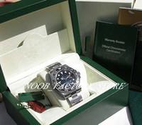 2019 Christmas Gift 오토매틱 무브먼트 40MM MENS SS GMT-MAS TER II BLACK CERAMIC # 116710 with Original Box Diving watch