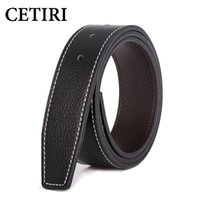 7 Color Men Belt With Holes Without Buckle Brand Designer Le...