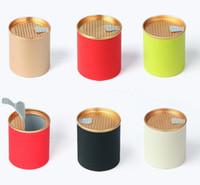 Round Paper Can Tube papier à usage unique Théiere Emballage sans tache ronde Motif bonbons alimentaires Boîtes de rangement