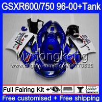 Тело + бак для Suzuki SRAD GSXR 750 600 GSXR600 96 97 98 99 00 291HM.15 GSXR-600 GSXR750 1996 1997 1998 1999 2000 заводские синие горячие обтекивания