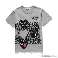 Com melhor qualidade branco cinzento CDG Mens Mulheres Novo Play 1 CDG Heart Homme Plus Japão O Met Tattoo Punk Born 2 Die 2