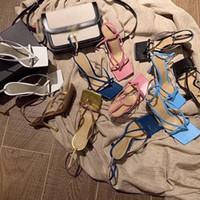 Дизайнерская обувь на каблуках модные роскошные дизайнерские женские туфли на высоком каблуке дизайнерские сандалии стрейч сандалии Женские шлепанцы лодыжки ремень сандалии