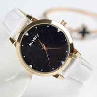 Starry Sky Watch Ladies Simple Fashion Student Leather Strap...