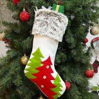 عالية الجودة عيد الميلاد الجورب هدية أكياس الفانيلا غير المنسوجة عيد الميلاد عيد الميلاد الجورب كبير الحجم سهل الديكور الجوارب حقيبة VT0757