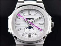 PP NAUTILUS 5726 роскошные часы годовой календарь фаза Луны 24 часа наручные часы Swiss 324SC Automatic 28800 vph водонепроницаемые часы из нержавеющей стали