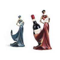 Resina Wine saia da cremalheira Best Wine Bottle Titular elegante Wine Goddess Levante Acessórios Home Bar Decoração Preferenciais