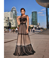 Grace Black Tulle Scoop Applique Evening Dresses Special Occ...