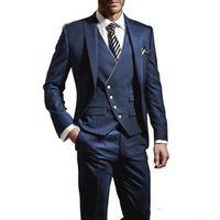 Жених смокинги пика отворотом мужской свадебный смокинг модная мужская куртка пиджак мужской ужин / дартс костюм на заказ (куртка + брюки + галстук)