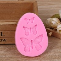 3D Silicone Mold Butterfly Shaped Fondant Cake Mold Soap Mou...