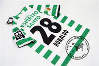 Ücretsiz Kargo 2003 04 Blisbon Ev Gömlek Ronaldo # 28 Liedson # 31 Beto # 22 Retro Futbol Jersey Eski Camisetas