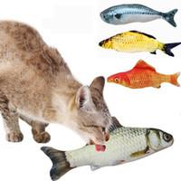 Peluche pesce forma gatto giocattolo regalo carino simulazione pesce che gioca giocattolo per animali da compagnia catnip pesci giocattoli interazione giocattoli di formazione