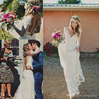 2018 Backless Lace Mermaid Wedding Dresses V-Neck With Sash Appliques Long Sleeves Wedding Dress Vestido De Novia