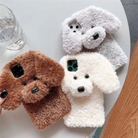 Suitable for iphone11 Pro max cute plush teddy phone case