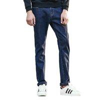 Мода пионер лагеря толстый зимний мужской джинсовый бренд одежды мужской флис джинсовой брюки джинсы мужские брюки