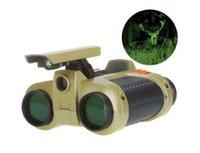 2018 Novelty Night Binocular 4x30 Cadeaux Vision à chaud Vente des enfants Pop-up Télescope Toys Nuit pour la vision Portée Christmas Light Drgpf