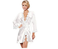 Women' s summer sexy bathrobes lace side perspective fun...