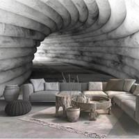 fondos de pantalla de encargo cualquier tamaño grises de cemento extendido espacio de pared de la cueva pintado pared de fondo para paredes 3 d para sala de estar