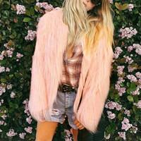 المرأة الستر معطف الفرو فو الخريف الشتاء سترة دافئة معطف أبلى الأزياء شارع العليا