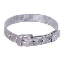 Titanium steel mesh chain strap 8 to 18 mm stainless steel w...