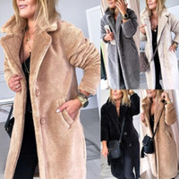 Breasted Jacket Coats Women Warm Designer Thick Jackets Lamb...