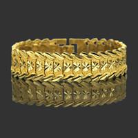Prepotente personalità di moto braccialetto hiphop maschio l'Europa e il braccialetto d'oro spessa Stati Uniti hip hop la moda