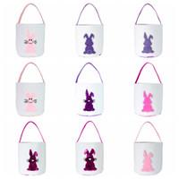 Paskalya tavşan çanta Paskalya süslemeleri ev için sevimli tavşan kulakları çanta parti hediyeler çocuklar için Paskalya şeker hediye çanta