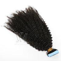 Vmae tam manikür hizalı vrigin remy önceden yapışmış doğal renk 50g 4A bant inişik insan saç uzantıları