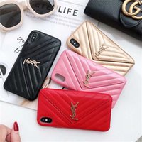Top Fashion Branded Telefon Fall für iphone X XS XR Xs Max Kartenhalter Leder Telefon Fall für iPhone 6 6 s 7 7 plus 8 8 plus Designer Telefon Fall