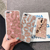 Luxus Designer Rose Gold Glitter Kuss Telefon Fall für Iphone X Xs Max Xr 8 7 6 6s Plus I Phone 8plus Handy Fällen Hybrid Back Cover