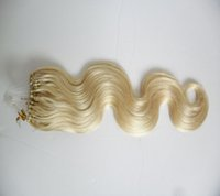 100 г микро кольцо наращивание волос блондин цвет объемная волна микро бусины реми наращивание волос человека микро петля наращивание волос 1 г / с 100 г