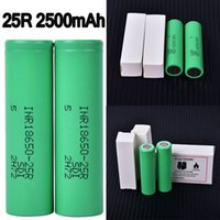 25R Samsung 18650 Battery 2500mAh 3. 6V 35A Rechargeable Lith...