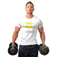 Mens camiseta Muscle Marca Fitness Homens Bodybuilding Workout Gyms de Algodão Sporting Camisa Tops Men Plus Size S-2XL
