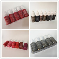 5PCS 진한 갈색 영구 화장 안료 micropigment 문신 잉크 15 ㎖ 1 / 이온스 화장품 수동 페인트 3D 눈썹 입술