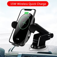 15W Wireless-Quick Charge Auto Vent Schnellladestand-Halter-Fahrzeug Wireless-Ladehalterung Car Kit für Apple iPhone Samsung Smartphone