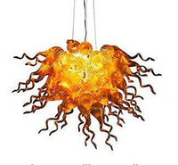 Оптом Art Deco Chastersiers Лампы Роскошный Цветочный Потолочный светильник Обеденная комната Освещение Рука вручить Мурано Стеклоу
