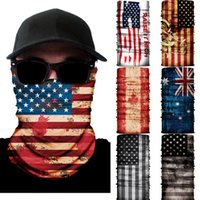 3D Flag Seamless Magic Scarf Outdoor Neck Face Mask Sport Fi...