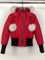 Kanada-Schere Short Down Jacket Bomberjacke Winter Kurz Designer Daunenjacke für Frauen Rot Weiß Schwarz Daunenfrau